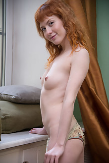 Eava in Eava by Stan Macias indoor redhead shaved pussy