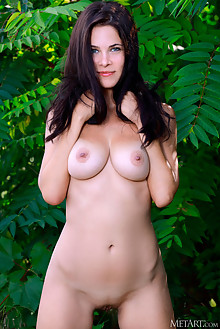 Martina Mink in Special Spring by Matiss outdoor sunny brunette black hair blue eyes boobies busty tanned shaved pussy custom