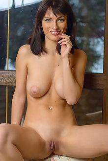 olesya new model presenting max asolo indoor brunette boobies