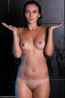 Presenting Indiana black by Marlene indoor brunette brown eyes wet hips shaved ass latest