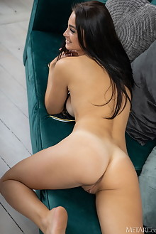 Alisa Sky in Cheerful by Tora Ness indoor brunette black hair brown eyes boobies tanned shaved pussy ass custom