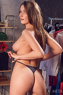 Elina in My Dresses by Alex Lynn indoor brunette blue eyes boobies shaved tight pussy latest