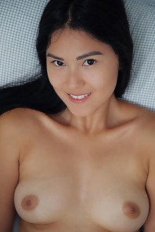 Kimiko in Bedroom Loft by Arkisi indoor asian brunette black...
