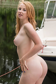 Helene in Anive by Tora Ness outdoor redhead blue eyes boobies shaved ass pussy latest