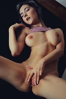 Eva Elfie in Affair by Arkisi indoor blonde green eyes boobi...