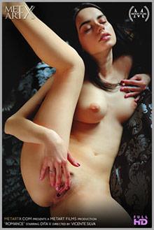 Dita V in Romance by Vicente Silva indoor brunette black hai...
