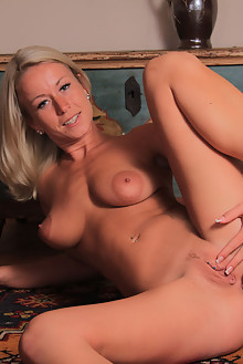 Presenting Lexie Heard by John Bloomberg indoor blonde blue eyes boobies shaved tight pussy ass hips piercing