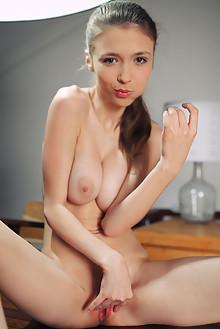 Mila Azul in Nata by Arkisi indoor brunette green eyes boobi...