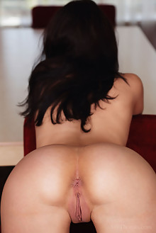 Nicole D in Sweet Touch by Flora indoor brunette black hair shaved pussy ass hips