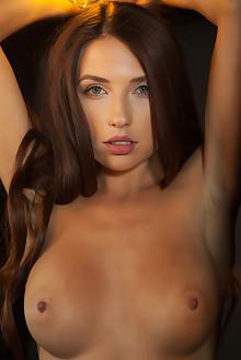 Niemira in Like The Night by Nudero indoor brunette blue eyes boobies tanned shaved custom