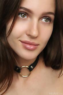 Holly Haim in Sparkle by Natasha Schon indoor brunette green eyes boobies tanned shaved custom