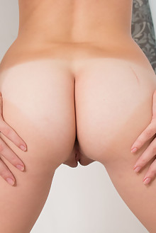 Debella Z in Debella by Thierry Murrell indoor blonde shaved pussy ass fingering