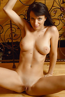 Olesya D in Show Off by Max Asolo indoor brunette black hair brown eyes boobies shaved tight pussy latest