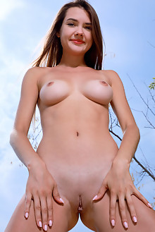 Georgia in Summer Crush by Matiss outdoor river brunette sunny blue eyes boobies shaved pussy ass