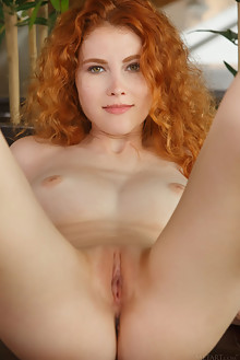 Adel C in Reyza by Luca Helios indoor redhead hazel eyes freckles boobies shaved tight pussy custom latest