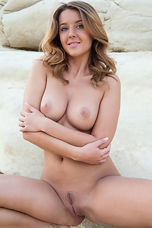 Sybil A in Sunrise by Ken Tavos outdoor sunny brunette green eyes boobies trimmed pussy ass