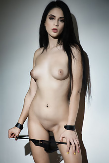 Mia Trejsi in Clamp My Clit by John Chalk indoor brunette black hair boobies shaved pussy toys