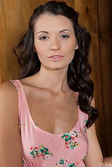 Leila in Soseo by Rylsky indoor brunette brown eyes boobies shaved