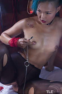Sweet Julie in Unique by Angela Linin indoor dyed asian brown eyes small tits tattoo bondage shaved latest