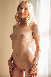 Maria Rubio in Natural Light by Alex Lynn indoor blonde blue eyes shaved pussy custom