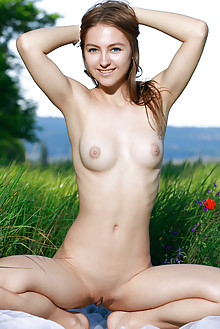 Izabel A in Feniza by Matiss outdoor brunette blue eyes boobies puffy nipples shaved ass tight pussy latest