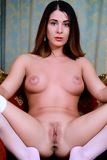 Alice Kelly in Suited by Matiss indoor brunette brown eyes boobies shaved pussy