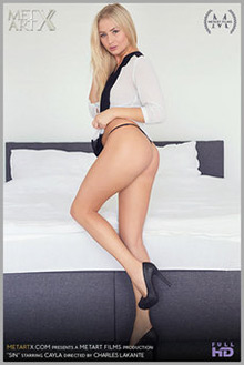 Cayla in Sin by Charles Lakante indoor blonde blue eyes shaved pussy fingering movies latest