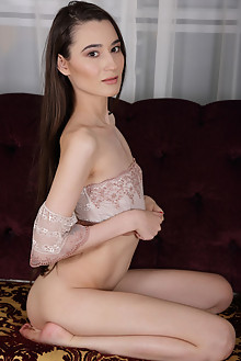 Sofia Lia in Bohemian Beauty by Flora indoor brunette brown eyes shaved pussy