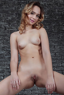 Aimee Rox in Mask by Platon Averin indoor blonde brown eyes shaved pussy ass