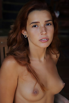 Agatha Vega in Fringe On Top by Arkisi latina outdoor redhead brown eyes boobies tanned shaved pussy ass custom