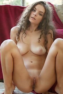 Veronika Glam in Shaded by Rylsky outdoor sunny brunette green eyes shaved pussy