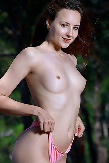 Rosalina in Luxury View by Matiss outdoor seaside sunny brunette brown eyes boobies shaved pussy