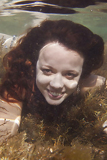 Korica A in Elated by Antares outdoor redhead green eyes dive sea ocean latest
