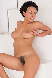 Pammie Lee in Podium by Rylsky indoor ebony brunette black hair boobies hairy unshaven pussy ass