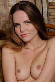 Camilla A in Seated Pleasure by Stan Macias indoor brunette blue eyes shaved
