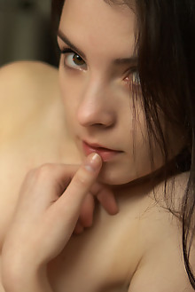 Presenting Una Piccola by Natasha Schon new model indoor shadows brunette brown eyes small tits hairy unshaven pussy latest