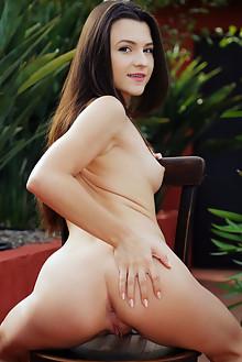 Hayli Sanders in Garden Fun by Arkisi outdoor brunette brown...