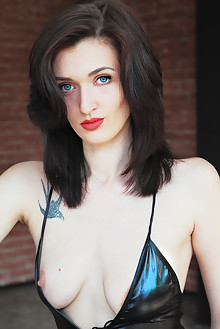 Sonya S in Ride by Iona lara d outdoor brunette black hair blue eyes boobies shaved pussy vinyl latest