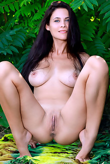 Martina Mink in Special Spring by Matiss outdoor sunny woods brunette black hair blue eyes boobies tanned shaved pussy