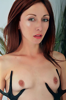 Night A in I Love You by Iona indoor redhead green eyes shaved pussy custom