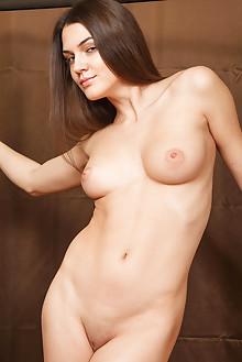 Vanda B in Masenn by Catherine indoor brunette brown eyes bo...