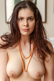 Amelie Belain in Curvy by DeltaGamma indoor brunette brown eyes boobies shaved pussy
