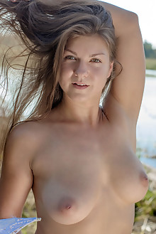 Lili K in Lili K by Stanislav Borovec outdoor sunny blonde boobies shaved