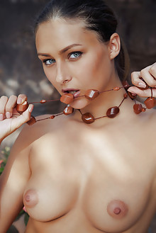 Yarina A in Finize by Arkisi outdoor brunette green eyes boo...