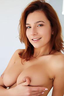 Belka in Heels On by Erro indoor redhead brown eyes boobies ...