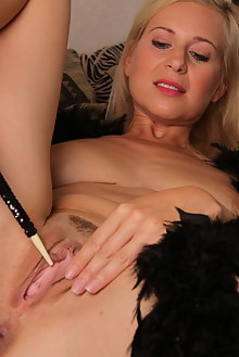 Anastasia Devine in Boa by John Bloomberg indoor blonde shaved pussy toys fingering latest