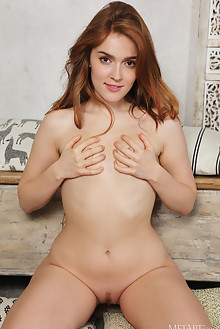 Jia Lissa in Sun Deck by Flora indoor redhead green eyes sma...