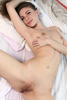 Galina A in Like A Dream by Volkov outdoor sunny brunette blue eyes shaved