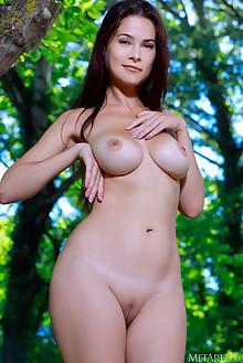 Martina Mink in Reverie by Matiss outdoor woods brunette blu...