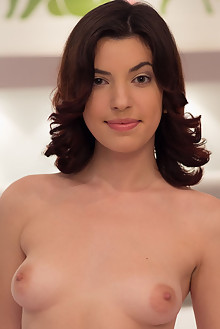 Presenting Xenna by Vladimiroff indoor brunette brown eyes boobies shaved pussy labia latest
